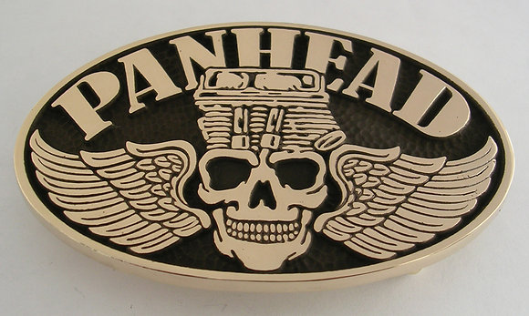 Panhead Skull Motorcycle Engine Belt Buckle