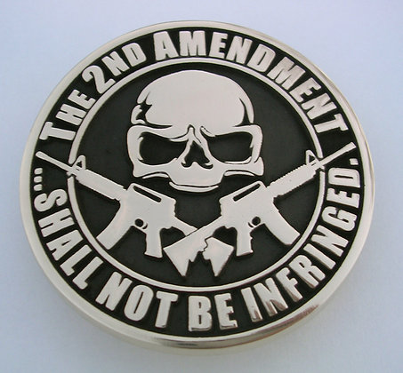 Second Amendment Skull Crossed ARs Buckle