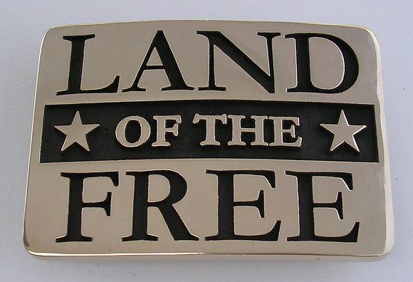 Land of the Free Buckle