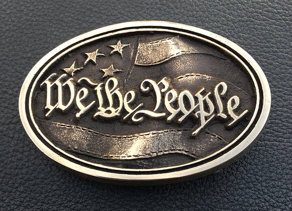 We the People - Old Glory - American Flag Belt Buckle