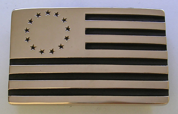 Betsy Ross Flag - Rectangle Belt Buckle