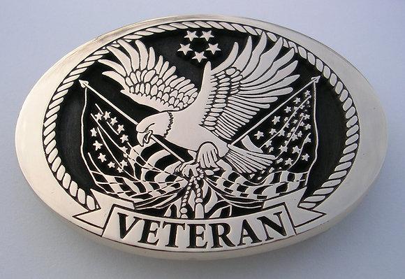 US Military Veteran Belt Buckle