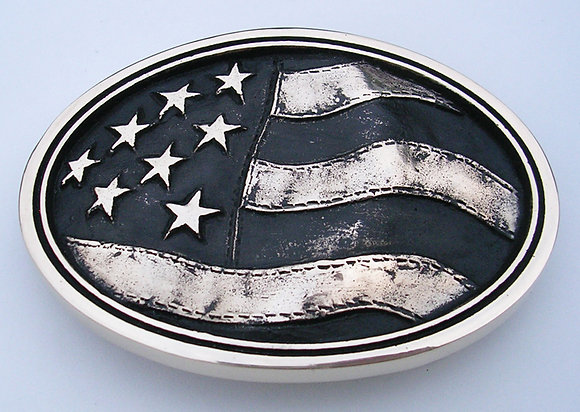 Old Glory - American Flag Belt Buckle
