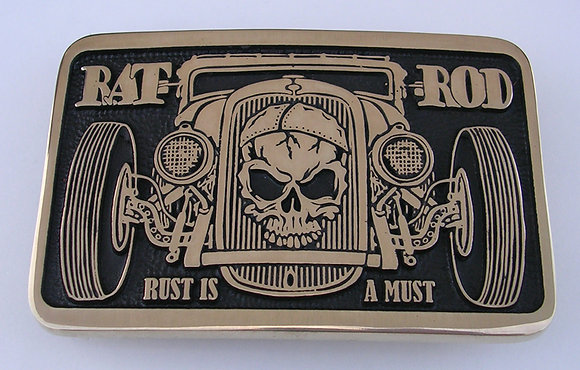 Rat Rod Car Belt Buckle