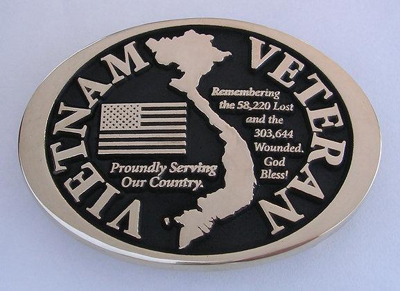 Vietnam Veteran Belt Buckle