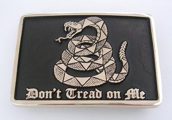 Don't Tread on Me Belt Buckle - Rectangle