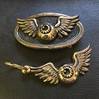 Flying Eyeball Buckle & Key Fob