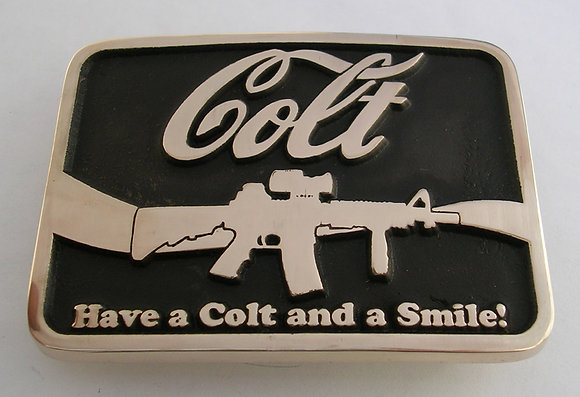 Colt and a Smile Belt Buckle