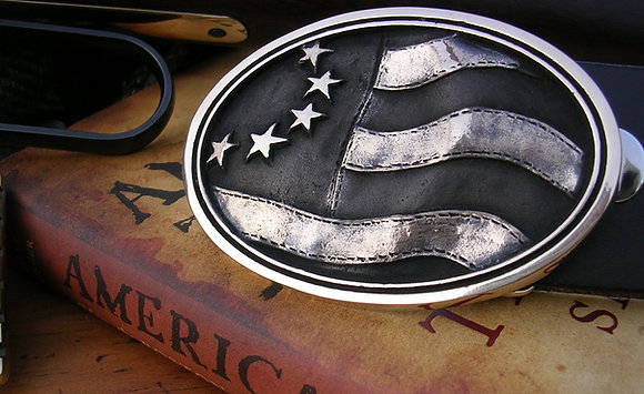 Betsy Ross - American Flag Belt Buckle