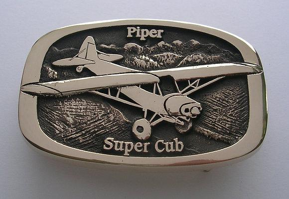 Piper Super Cub Wheels Airplane Buckle