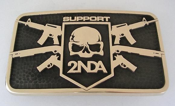 Support 2NDA - 3 Gunner Belt Buckle
