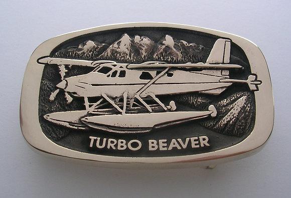 Turbo Beaver Airplane Buckle