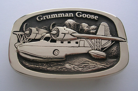 Grumman Goose Airplane Buckle