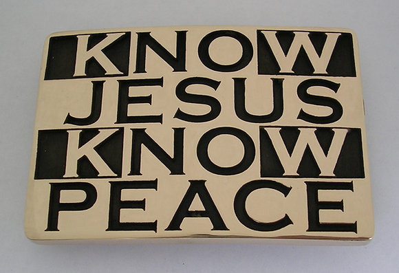 Know Jesus Know Peace Buckle