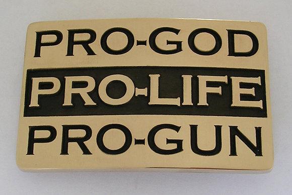 PRO GOD LIFE GUN Buckle