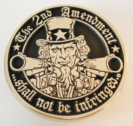 2nd Amendment - Uncle Sam Belt Buckle