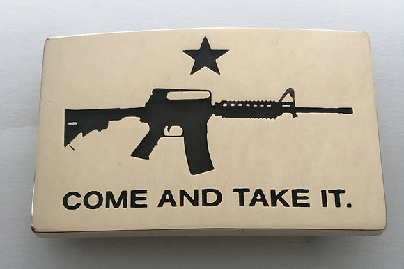 Come and Take it Flag Gun Buckle