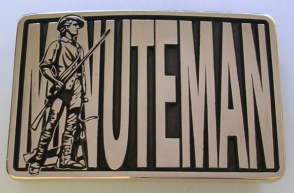 Minuteman Belt Buckle