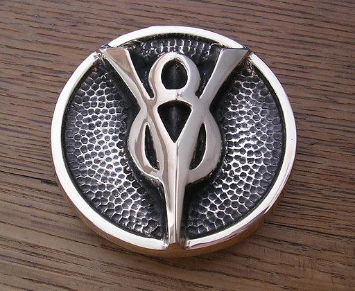 V8 Grill Emblem Belt Buckle