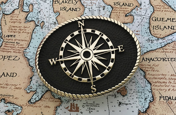 Compass Rose Belt Buckle