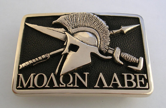 Molon Labe Belt Buckle -Sculptured