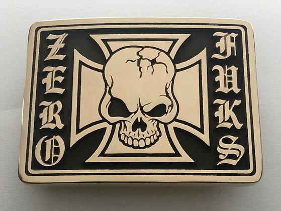 Zero Foxtrot Skull Buckle