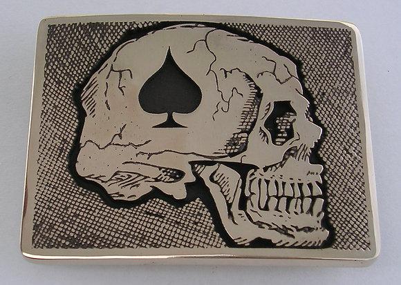 Death Card Skull Buckle