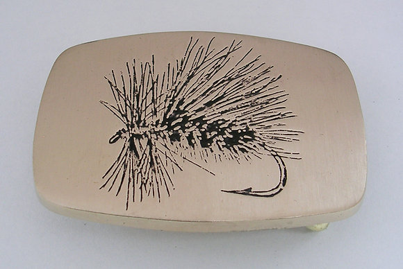 Peacock Caddis - Fly Fishing Buckle