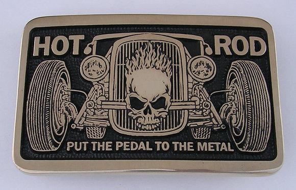 Hot Rod Car Belt Buckle