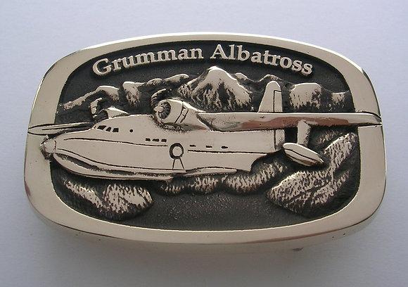 Grumman Albatross Airplane Buckle