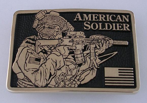 American Soldier Belt Buckle