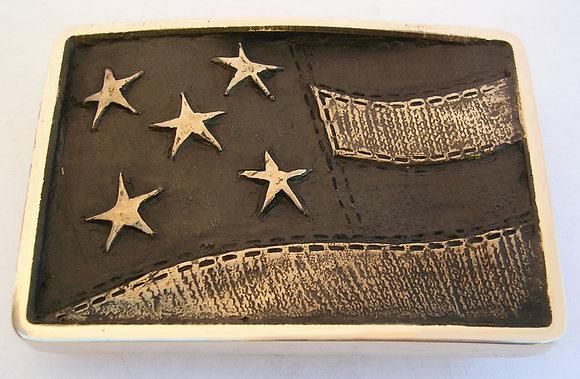 American Flag Sculptured Belt Buckle