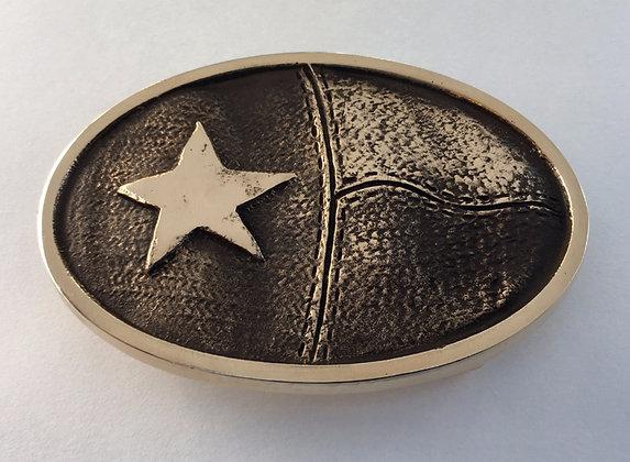 Texas Flag Sculptured Buckle