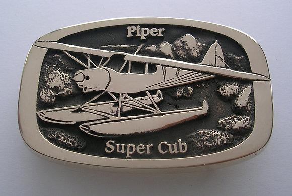 Piper Super Cub Floats Airplane Buckle