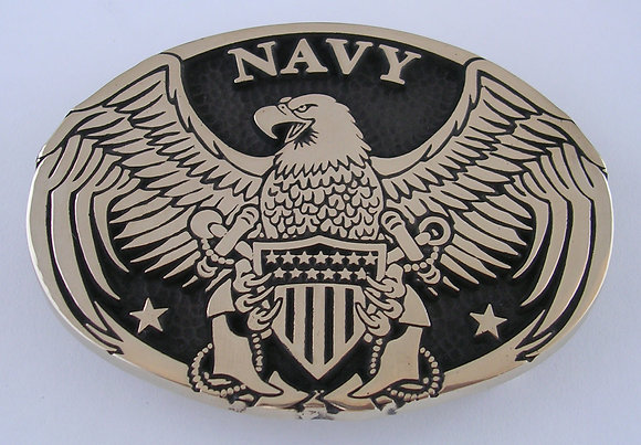 Navy Eagle Belt Buckle