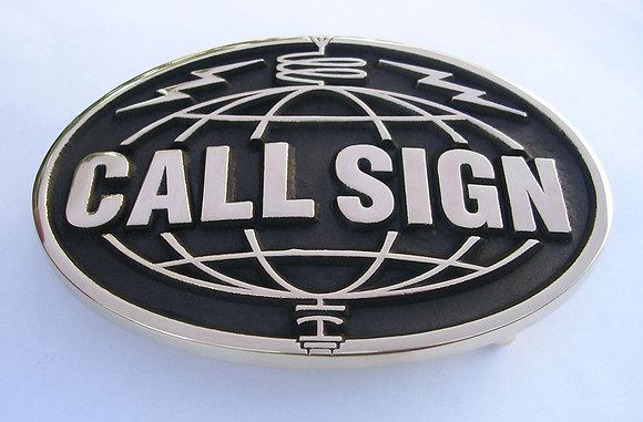 Custom Call Sign - Ham Amateur Radio - Belt Buckle