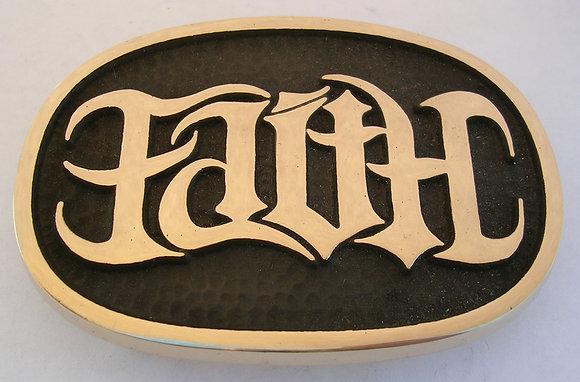 Faith Hope Ambigram Buckle