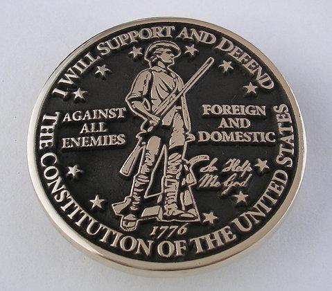 Military Oath - Minutemen Belt Buckle