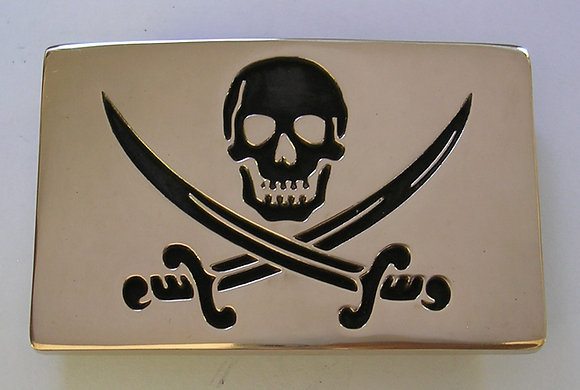 Jolly Roger Flag Belt Buckle