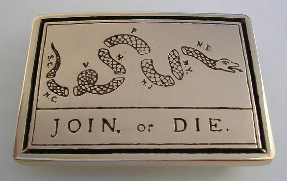 Join or Die Flag Belt Buckle
