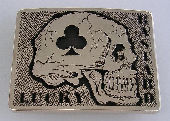 Death Card Lucky Bastard Buckle