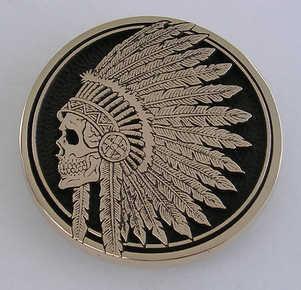 Indian Skull Headdress Buckle
