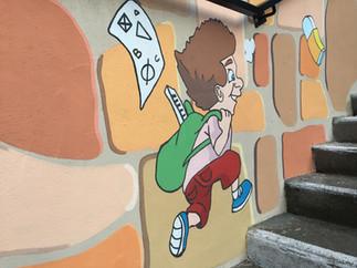 Fresque Ecole Sainte Thérèse