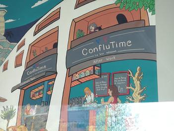 derrière vitre Conflu'Time