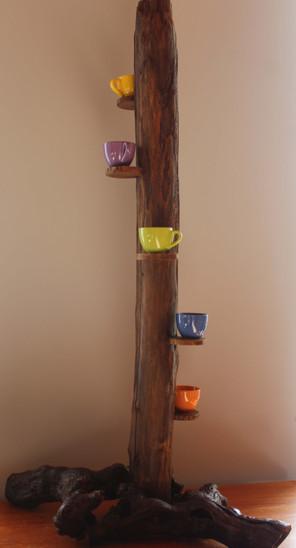 Support bois pour petites plantes ou pots