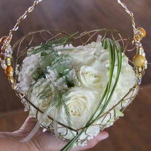 Fleurs mariage - Panier Fleuri