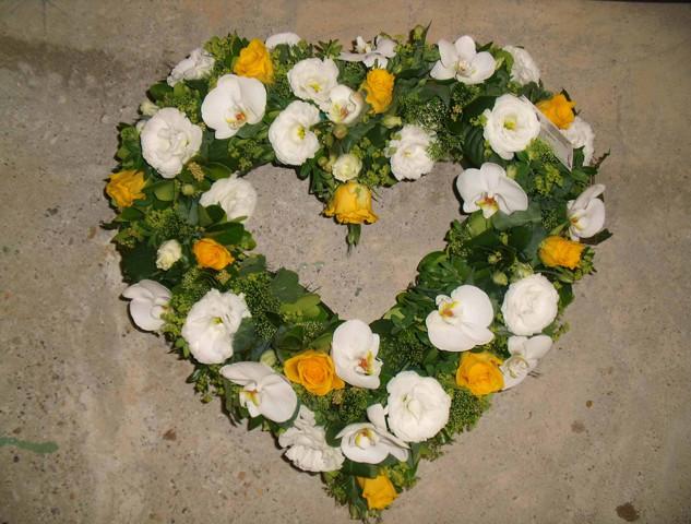 Fleurs Décès - Coeur
