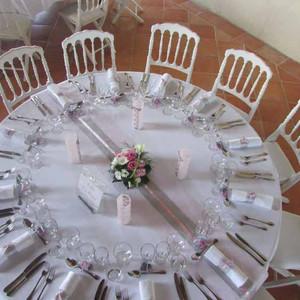 Fleurs mariage - Table ronde