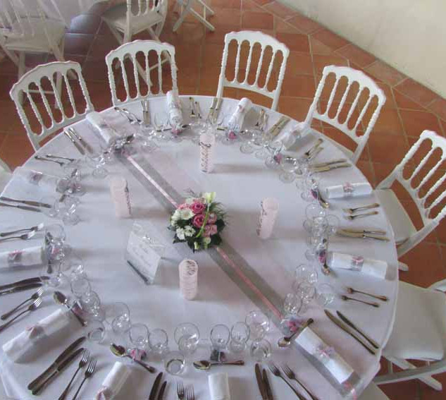 Fleurs mariage - Table ronde