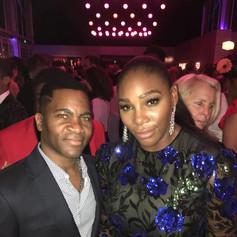 Aaron Bing and Serena Williams